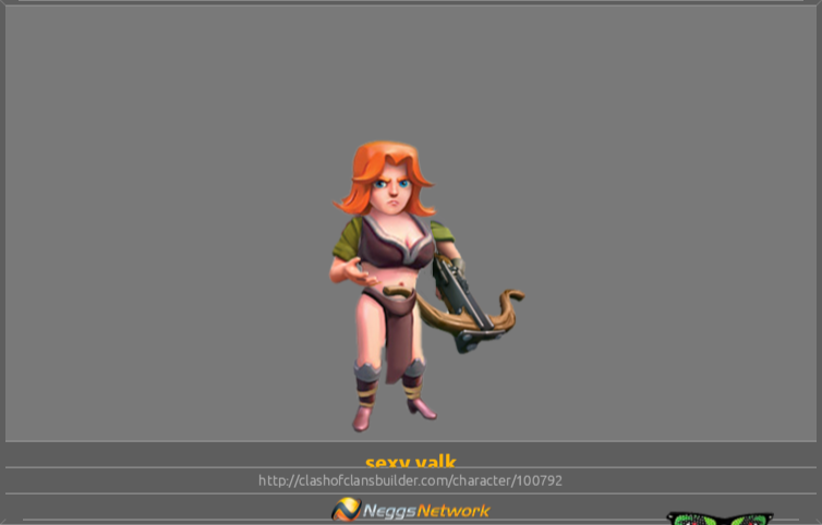 Sexy Valk Character Clash Of Clans Builder
