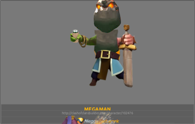 Megaman Character Clash Of Clans Builder