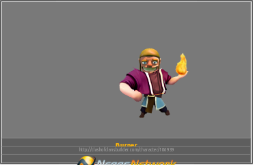 Burner Character Clash Of Clans Builder