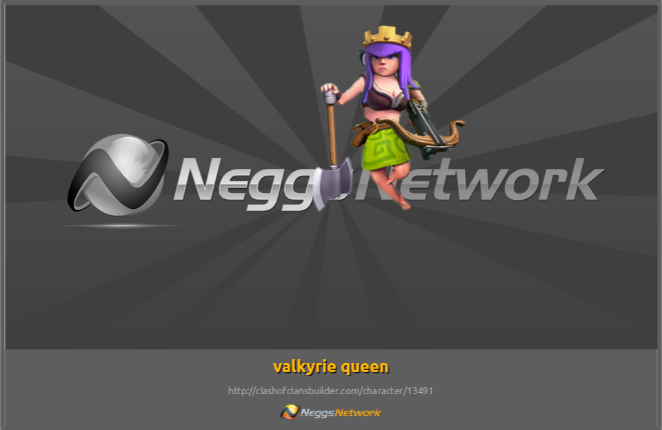 Valkyrie Queen Character Clash Of Clans Builder