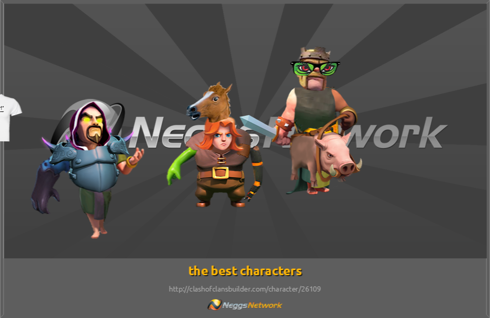 The best characters character clash of clans builder