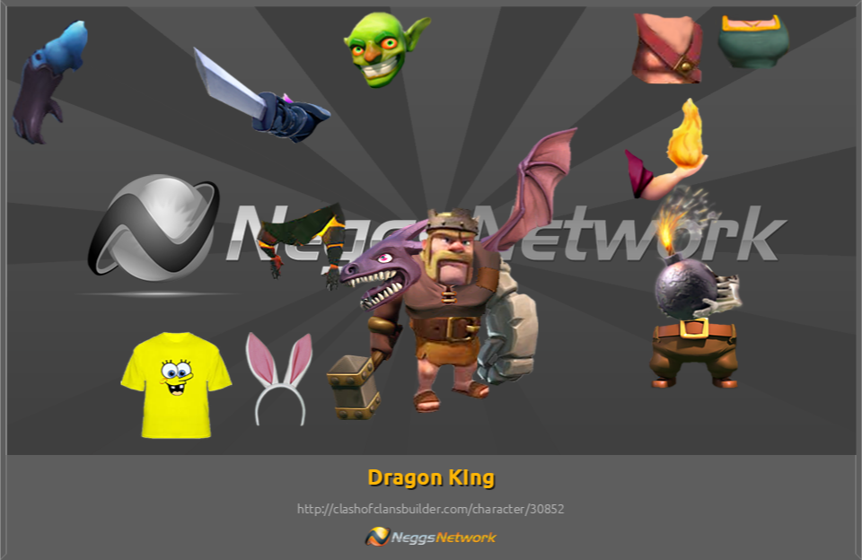 Dragon KIng Character - Clash of Clans Builder