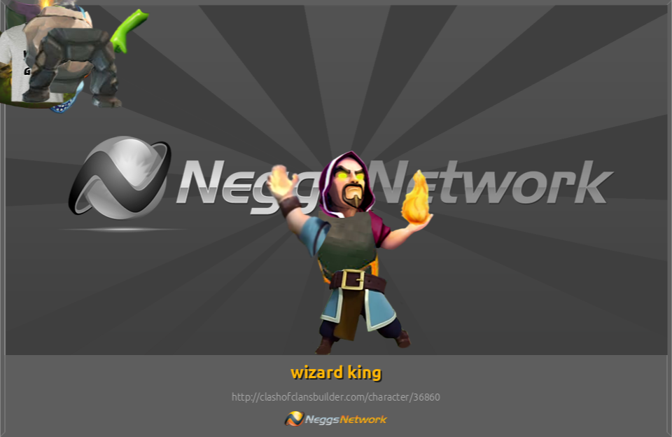 wizard king Character - Clash of Clans Builder