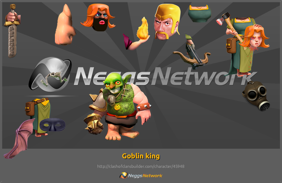 Goblin King Character Clash Of Clans Builder