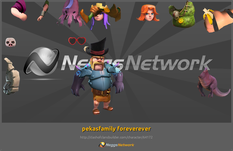 Character Designer Pay : Pekasfamily foreverever character clash of clans builder