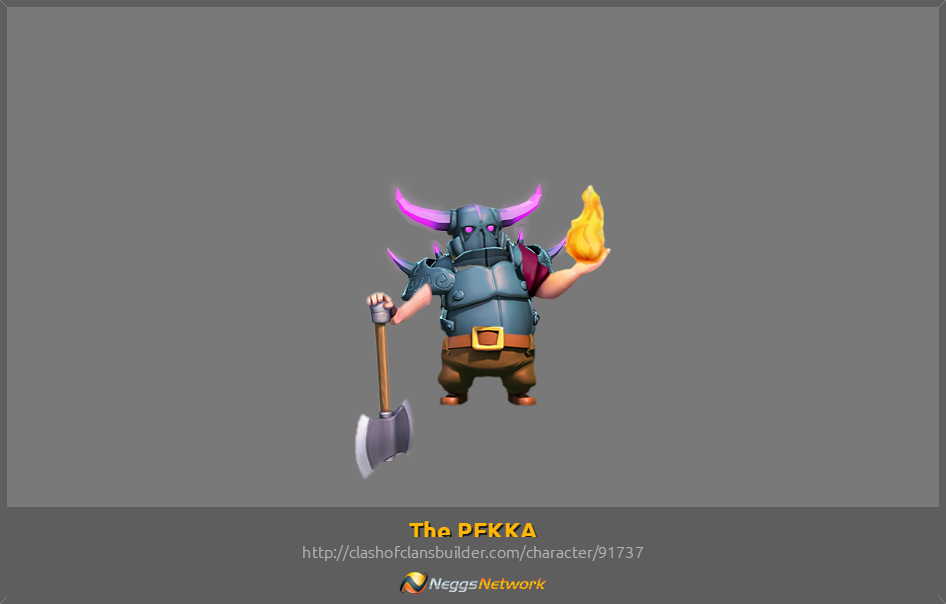 The PEKKA Character - Clash of Clans Builder