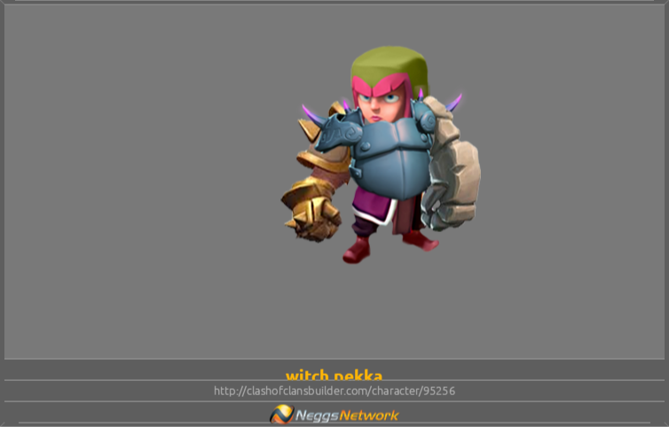 witch pekka Character - Clash of Clans Builder