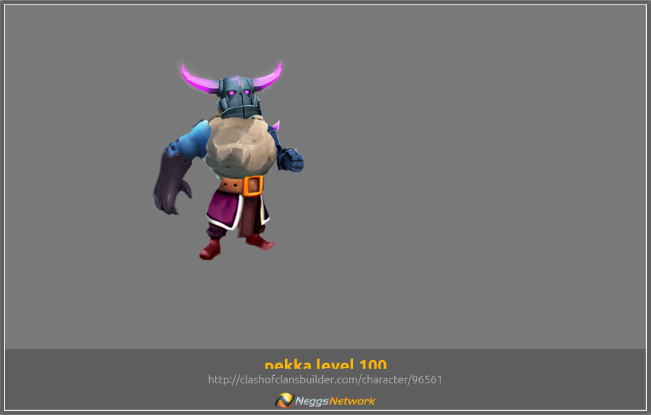pekka level 100 Character - Clash of Clans Builder