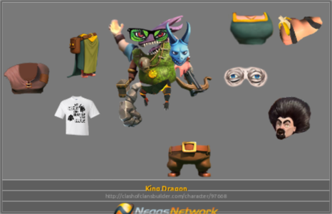 King Dragon Character - Clash of Clans Builder