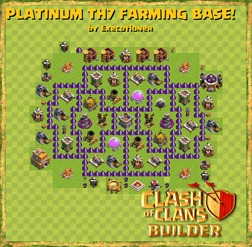 Clash of Clans Best Th7 Farming Base with Air Sweeper